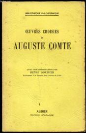 Oeuvres Choisies D'Auguste Comte - Couverture - Format classique