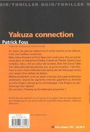 Yakuza Connection - 4ème de couverture - Format classique
