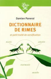 Dictionnaire de rimes et petit traité de versification - Couverture - Format classique