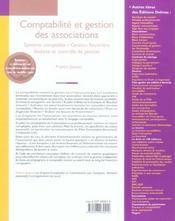Comptabilité et gestion des associations ; système comptable, gestion financière, analyse et contrôle de gestion (11e édition) - 4ème de couverture - Format classique