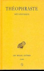 Métaphysique - Couverture - Format classique