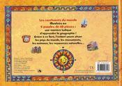 Livre de puzzles/les continents du monde - 4ème de couverture - Format classique
