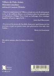 Histoires Insolites - 4ème de couverture - Format classique