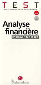 Analyse financiere (bq1 & bq5) - Couverture - Format classique