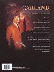 Carland Cross t.2 ; les pendus de Manhattan - 4ème de couverture - Format classique