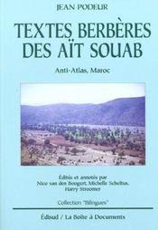 Textes berberes des ait souab ; anti-atlas maroc - Intérieur - Format classique