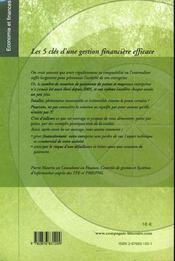Les 5 Cles D'Une Gestion Financiere Efficace - 4ème de couverture - Format classique