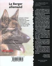 Le berger allemand - 4ème de couverture - Format classique