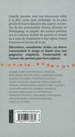 Lettres à un adolescent - 4ème de couverture - Format classique