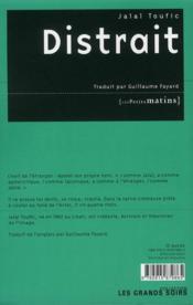 Distrait - 4ème de couverture - Format classique