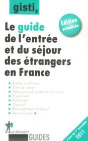 Guide de l'entrée et du séjour des étrangers en France - Couverture - Format classique