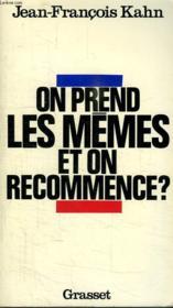 On Prend Les Memes Et On Recommence ? - Couverture - Format classique