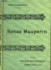 Renee Mauperin. - Couverture - Format classique
