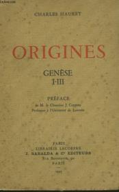 Origines. Genese I-Iii. - Couverture - Format classique