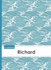 Carnet Richard Lignes,96p,A5 Vaguejaponaise - Couverture - Format classique