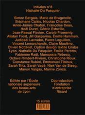Initiales N.8 ; N.D.P. (Nathalie Du Pasquier) - 4ème de couverture - Format classique