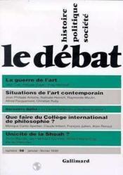 Revue Le Débat N.98 - Couverture - Format classique