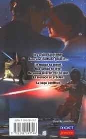 Star Wars - épisode II ; l'attaque des clones - 4ème de couverture - Format classique