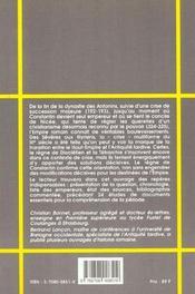 L'empire romain de 192 a 325 du haut empire a l'antiquite tardive - 4ème de couverture - Format classique