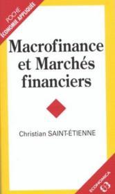 Macrofinance et marchés financiers - Couverture - Format classique