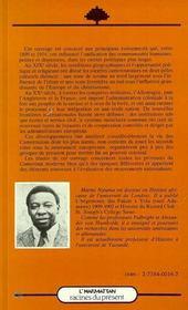 Histoire Du Cameroun Xixe-Debut Du Xxe Siecle - 4ème de couverture - Format classique