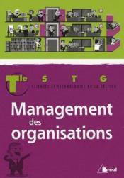 Management des organisations ; terminale STG - Couverture - Format classique