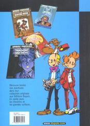 Les aventures de Spirou et Fantasio T.21 ; du glucose pour Noémie - 4ème de couverture - Format classique