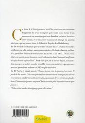 L'évangile essénien de la paix ; l'enseignement des élus - 4ème de couverture - Format classique