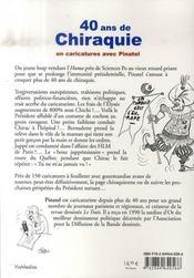 40 ans de chiraquie en caricatures avec pinatel - 4ème de couverture - Format classique
