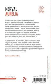 Aurelia - 4ème de couverture - Format classique