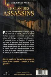 Les chroniques noires t.1 ; le clan des assassins - 4ème de couverture - Format classique