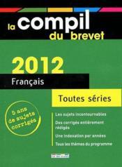 COMPIL BREVET ; français (édition 2012) - Couverture - Format classique