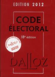 Code électoral (édition 2012) - Couverture - Format classique
