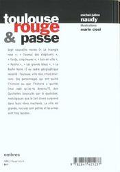 Toulouse, Rouge Et Passe - 4ème de couverture - Format classique