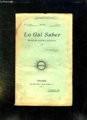 Lo Gai Saber N° 151 Mai 1937. - Couverture - Format classique