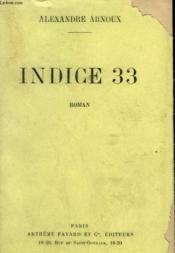 Indice 33. - Couverture - Format classique