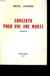Concerto Pour Une Ame Morte. - Couverture - Format classique