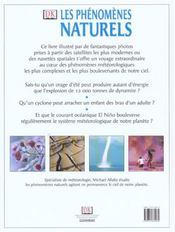 Les phenomenes naturels ; un voyage aux limites de la meteo - 4ème de couverture - Format classique