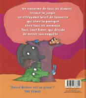Elmer et le monstre - 4ème de couverture - Format classique
