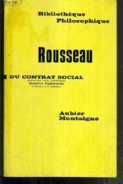 Du Contrat Social / Bibliotheque Philosophique. - Couverture - Format classique