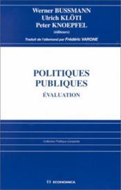Politiques publiques, evaluation - Couverture - Format classique