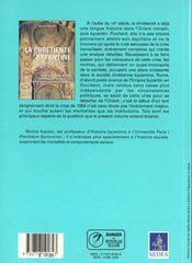 La chretiente byzantine du debut du viie au milieu du xie siecle - 4ème de couverture - Format classique