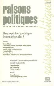 Revue Raisons Politiques T.19 - Couverture - Format classique