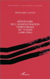 Répertoire de l'administration territoriale du Tchad (1990-1994) - Couverture - Format classique