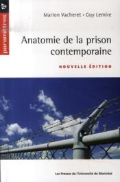 Anatomie de la prison contemporaine - Couverture - Format classique