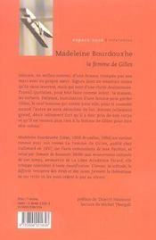 La Femme De Gilles - 4ème de couverture - Format classique