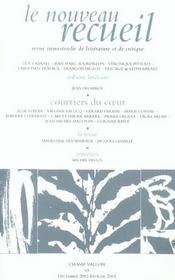 Le Nouveau Recueil T.65 ; Courrier Du Coeur - Intérieur - Format classique