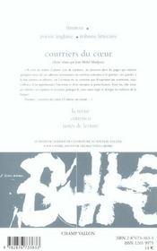 Le Nouveau Recueil T.65 ; Courrier Du Coeur - 4ème de couverture - Format classique