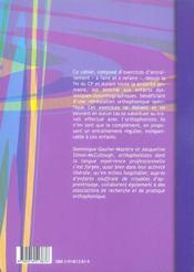 En attendant le retour chez l'orthophoniste CE1 - 4ème de couverture - Format classique