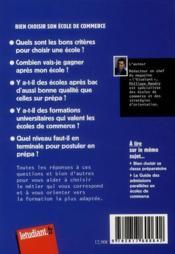 Bien choisir son école de commerce ; le guide 2011-2012 - 4ème de couverture - Format classique